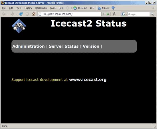 Tampilan Icecast 1 Membuat Radio Streaming Dengan Hosting Sendiri