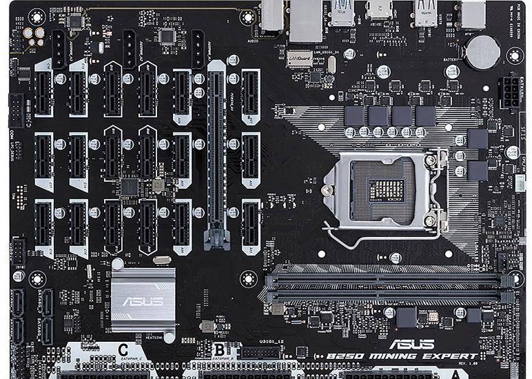 Wow Asus memiliki motherboard yang mendukung hingga 19 GPU, cocok buat nambang cryptocurrency