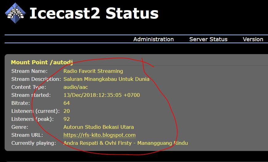 Icecast Server Live