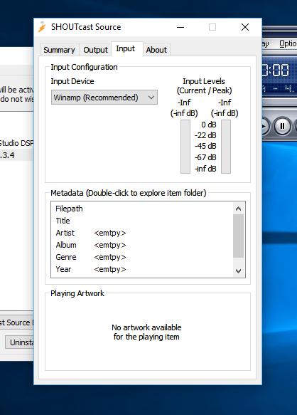 Input Shoutcast DSP