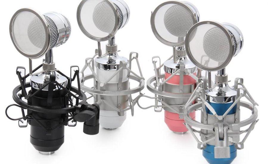 Taffware Mikrofon Kondenser dengan Shock Proof Mount – BM-8000