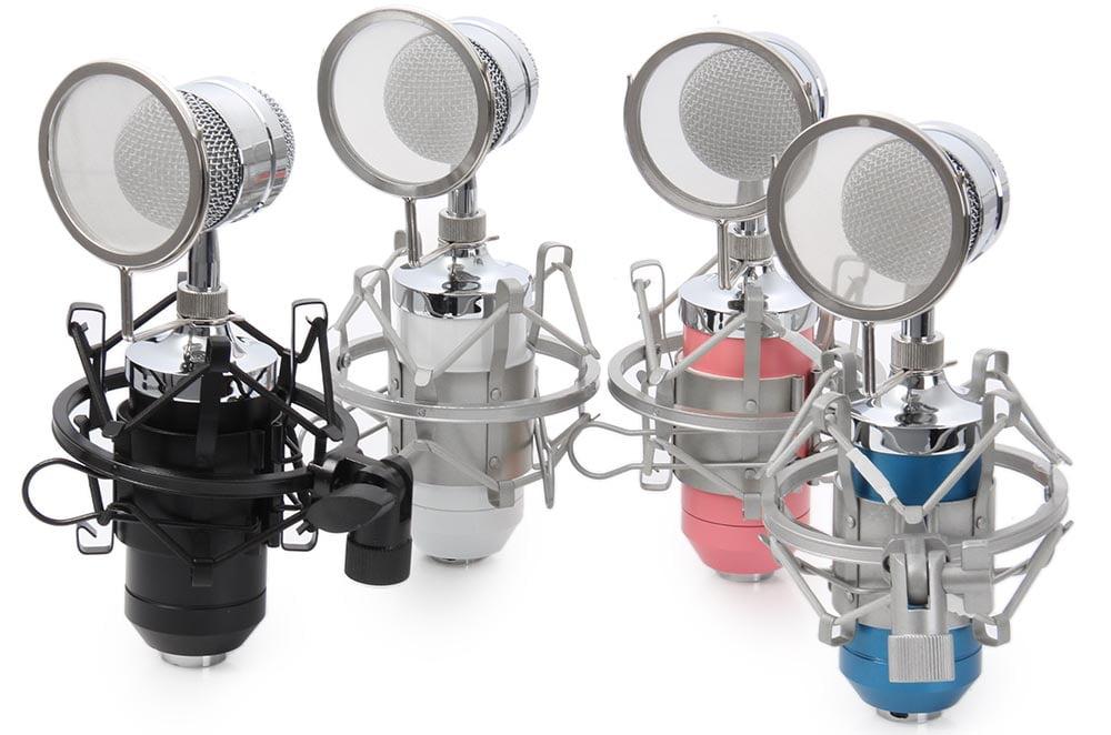 Mikrofon Condenser dengan Stand Holder - BM-8000 1