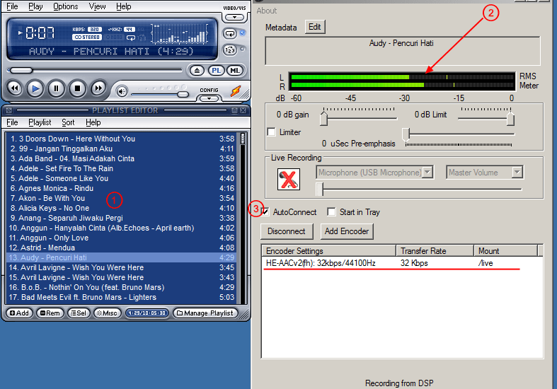 Setting Icecast dengan Winamp dan Edcast