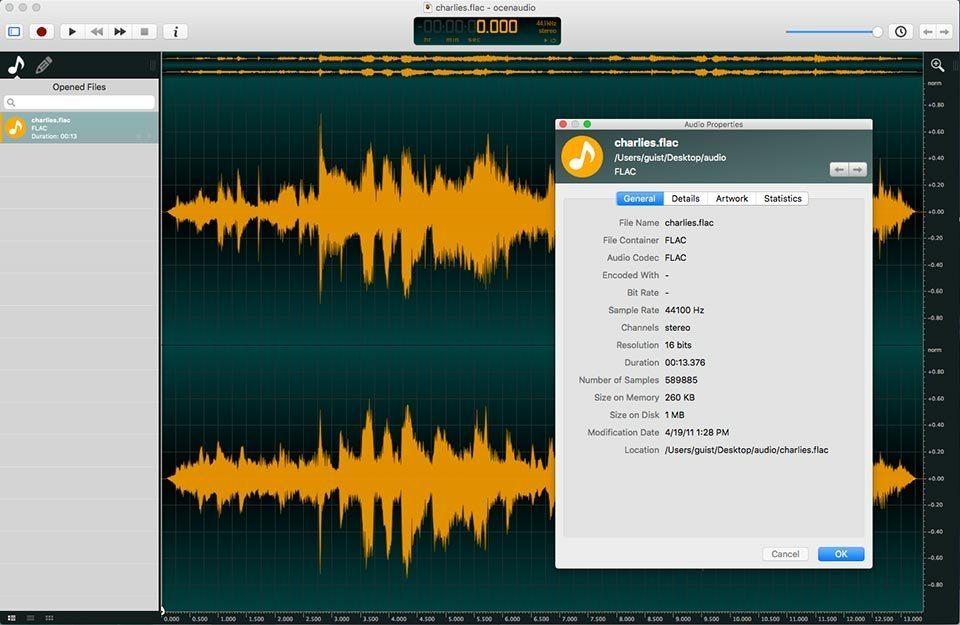 program audio editor gratis-ocenaudio